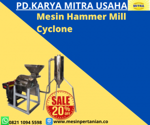 Mesin Penepung Singkong With Cyclone (Hammer Mill With Cyclone) Material Stainless Steel