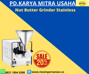 Nut Butter Grinder Bahan Stainless